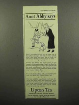 1942 Lipton's Tea Ad - Aunt Abby Says - $14.99