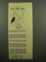 1941 Lipton's Tea Ad - Aunt Abby Says - Collecting Eggs - $14.99