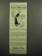 1942 Lipton's Tea Ad - Aunt Abby Says - Washing Dishes - $14.99