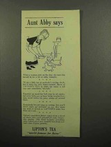1941 Lipton's Tea Ad - Aunt Abby Says - Feeding Cats - $14.99