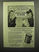 1941 Maxwell House Coffee Ad - Price to Please Purse - $14.99
