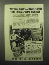 1942 Maxwell House Coffee Ad - Extra-Special - $14.99