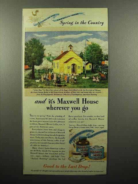 1946 Maxwell House Coffee Ad - Spring in the Country