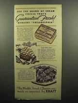 1935 Kraft Philadelphia Cream Cheese Ad - Fresh! - $14.99