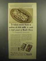 1935 Kraft Cheese Ad - More Than a Gallon of Milk - $14.99