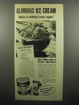1945 Borden's Eagle Brand Sweetened Condensed Milk Ad - $14.99