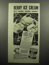 1945 Borden's Eagle Condensed Milk Ad - Berry Ice Cream - $14.99