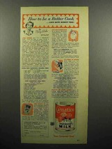 1952 Carnation Evaporated Milk Ad - How To Be Better Cook - $14.99