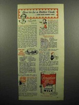 1953 Carnation Evaporated Milk Ad - Be a Better Cook! - $14.99