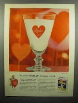 1956 Borden's Starlac Ad - The Heart of Milk - $14.99