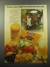 1980 Kraft Colby Cheese Ad - Fresh As Delivered Himself - $14.99