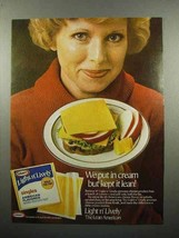 1980 Kraft Light n' Lively Singles Cheese Ad - $14.99