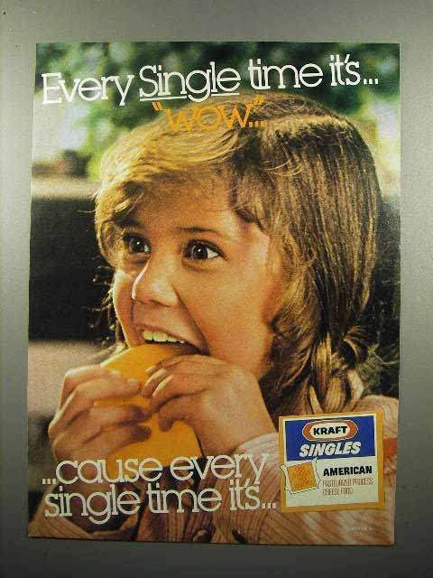 1980 Kraft Singles Cheese Ad - Every Time It's Wow