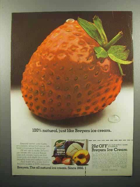 1978 Breyers Ice Cream Ad - 100% Natural