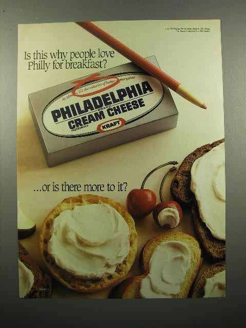 1988 Kraft Philadelphia Cream Cheese Ad - People Love