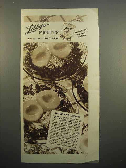 1936 Libby's Peaches Ad - Quick and Clever