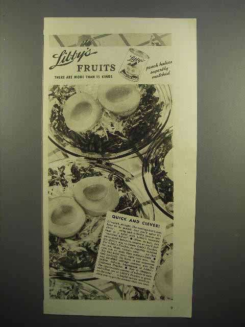 1938 Libby's Fruits Peaches Ad