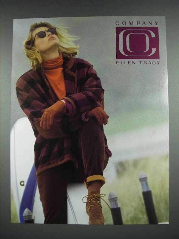 1991 Company Ellen Tracy Fashion Ad