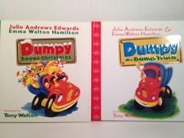 Dumpy Dump Truck and Saves Christmas 2 Books Julie Andrews HC DJ Tony Wa... - $14.84