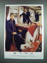 2003 Etro Fashion Ad - $14.99