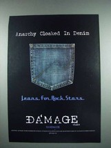 2003 Da'Mage Jeans Fashion Ad - Anarchy in Denim - $14.99