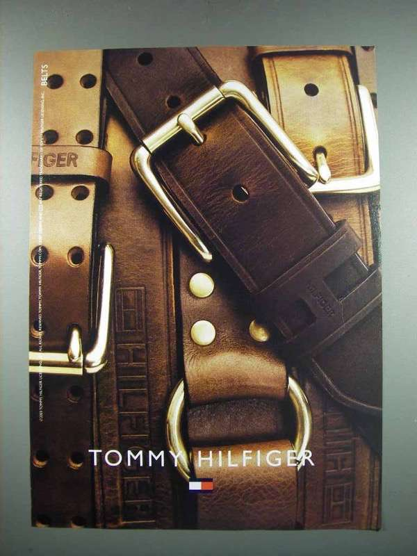 Primary image for 2003 Tommy Hilfiger Fashion Ad - Belts