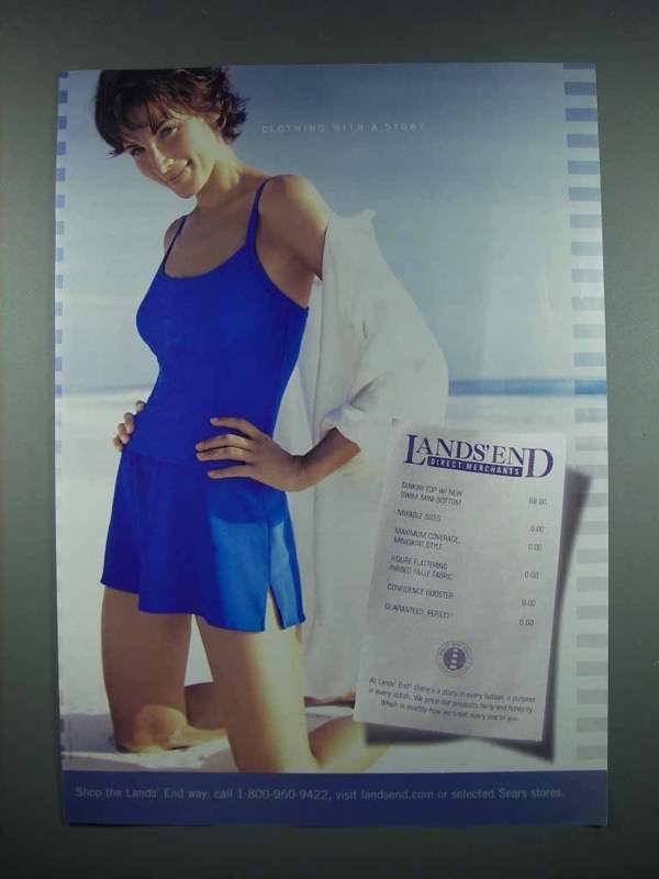 2003 Lands End Fashion Ad - Clothing with a Story