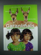 2001 Garanimals Fashion Ad - Deer - $14.99