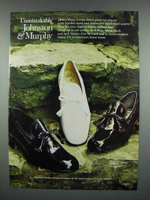 1973 Johnston & Murphy Shoes Ad - Unmistakably