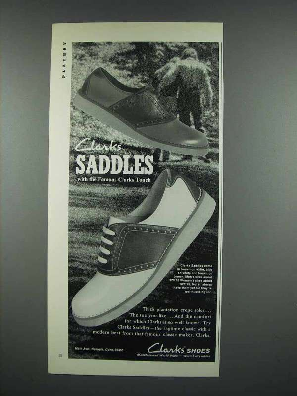 1973 Clarks Saddles Shoe Ad - Famous Touch
