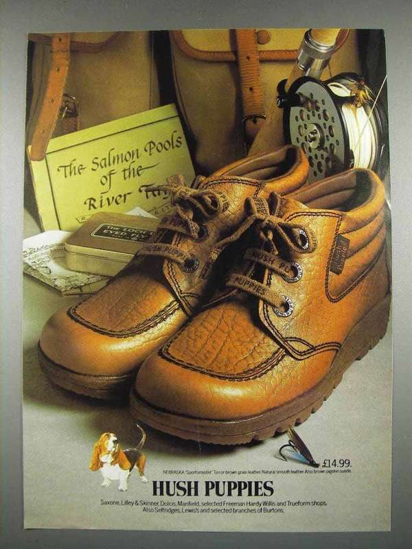 1978 Hush Puppies Shoes Ad - Fishing