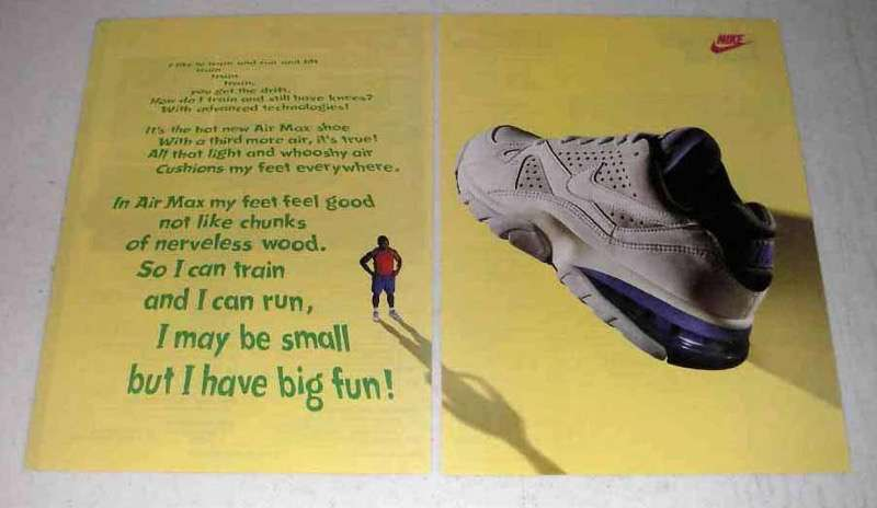 1993 Nike Air Max Shoe Ad - My Feet Feel Good