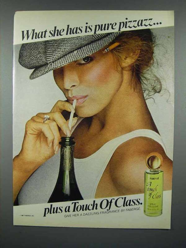 1981 Faberge A Touch of Class Spray Cologne Ad