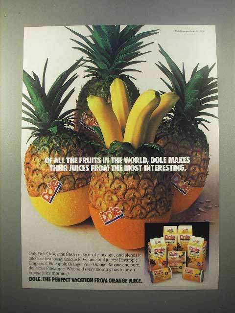 1988 Dole Fruit Juice Ad - The Most Interesting