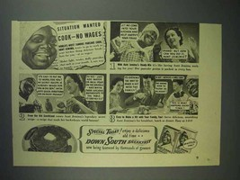 1940 Aunt Jemima Pancake Mix Ad - Cook - No Wages - $14.99