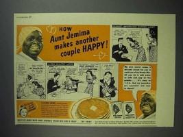 1940 Aunt Jemima Pancake Mix Ad - Makes Couple Happy - $14.99