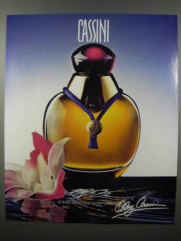 1990 Cassini Perfume Ad - A Love Affair That Never Ends