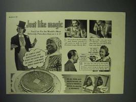 1940 Aunt Jemima Pancake Mix Ad - Just Like Magic - $14.99