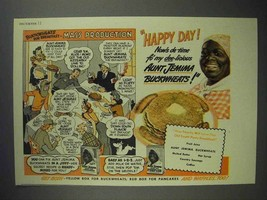 1942 Aunt Jemima Pancake Mix Ad - Mass Production - $14.99