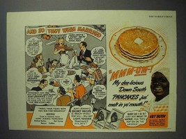 1942 Aunt Jemima Pancake Mix Ad - So They Were Married - $14.99