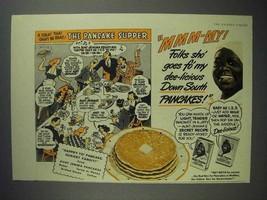1942 Aunt Jemima Pancake Mix Ad - The Pancake Supper - $14.99