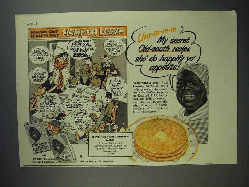 1941 Aunt Jemima Pancake Mix Ad - Home on Leave