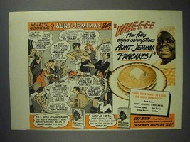 1942 Aunt Jemima Pancake Mix Ad - What's Cooking? - $14.99