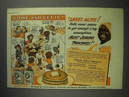 1943 Aunt Jemima Pancake Mix Ad - Come and Get It - $14.99