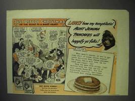 1943 Aunt Jemima Pancake Mix Ad - Before Christmas - $14.99