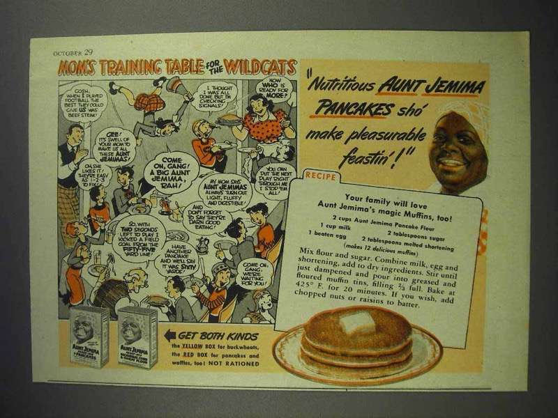 1943 Aunt Jemima Pancake Mix Ad - Mom's Training Table