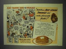 1943 Aunt Jemima Pancake Mix Ad - Mom's Training Table - $14.99