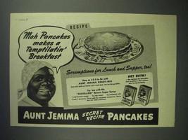 1944 Aunt Jemima Pancake Mix Ad - Temptilatin' - $14.99
