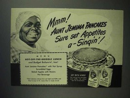 1947 Aunt Jemima Pancake Mix Ad - Appetites a-Singin' - $14.99