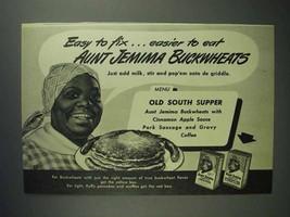 1946 Aunt Jemima Pancake Mix Ad - Buckwheats - $14.99